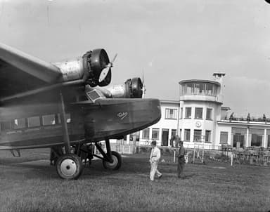 KLM Fokker Airliner with Wing Mounted Engines