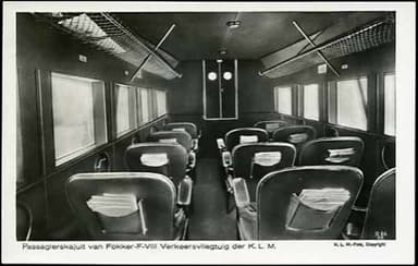 KLM Fokker F.VIII Interior