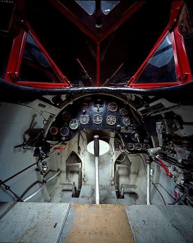 Lockheed Vega 5B Cockpit, Amelia Earhart