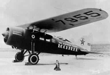 Lockheed Vega Air Express With NASA Engine Cowl