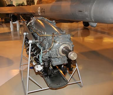 Modified Renault 12 Ja V-12 Water-Cooled Piston Engine