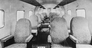 Passenger Cabin Aboard Farman F.180 Airliner