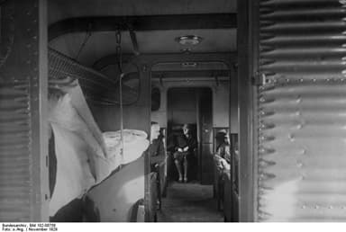 Passenger Cabin With Ten Beds Prepared