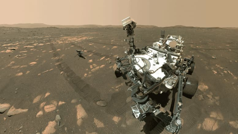 NASA's Perseverance Mars rover took a selfie with the Ingenuity helicopter