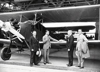 Stinson SB-1 Detroiter Biplane in Hangar