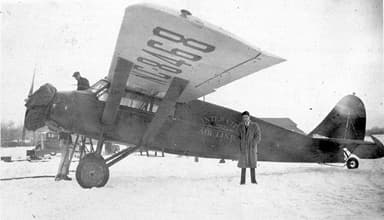 Stinson SM-1F Monoplane on a Chilly Day