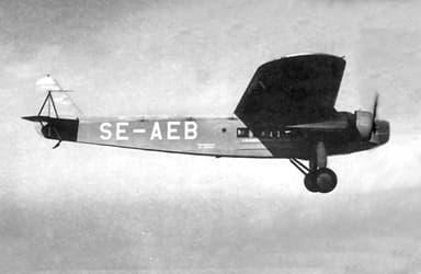 Swedish Airline ABA Fokker F.VIII with Pratt & Whitney Engine Installation
