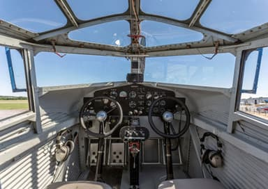 The Cockpit of Ford Trimotor NC-8407