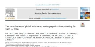 The Contribution of Global Aviation to Anthropogenic Climate Forcing for 2000 to 2018