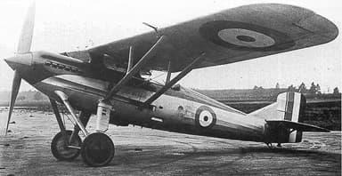 The Sole Westland Wizard High Speed Monoplane Fighter