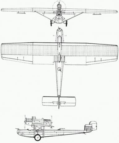 Three View Diagram of Kawasaki Ka 87