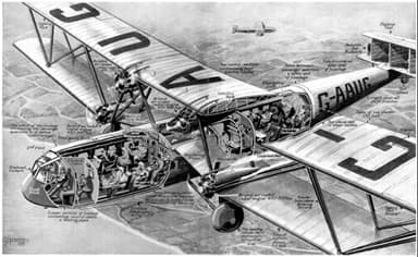 A 1930 Flying Magazine's View of the New H.P.42/45 Airliner