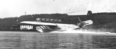 A Dornier Do X Landing at Speed in 1933