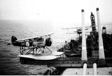 A Swedish Osprey Ready to Launch from the Cruiser HSwMS Gotland