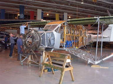 Bellanca Aircruiser Under Restoration at Western Canada Aviation Museum