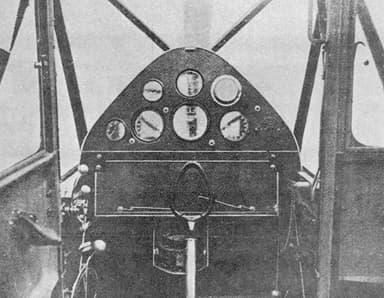 De Havilland Puss Moth Cockpit NACA Aircraft Circular No.117