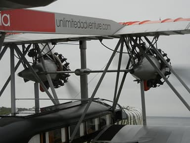 Engine Detail of a Sikorsky S-38 Replica