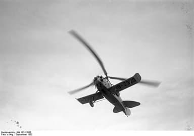 Focke-Wulf C 19 'Heuschrecke' (Grasshopper) in Flight in September 1932)