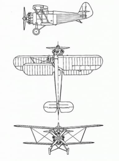 Four-View Drawing of Arado Ar 64