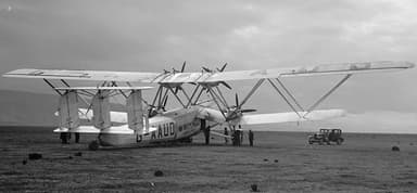 Handley Page H.P.42 'Hanno' Ready for Take-Off (1931)