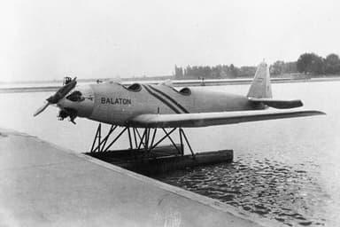 Junkers A-50 Junior Seaplane on Lake Balaton in Hungary (1930)