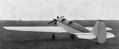 Junkers A50 Junior Left Rear View L'Aéronautique July 1929