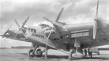 Junkers G.38 Showing Wing Cabins and Four Engines