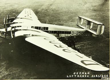 Junkers G.38 in Service with Lufthansa Airlines