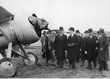 Onlookers Inspect a PZL P.7
