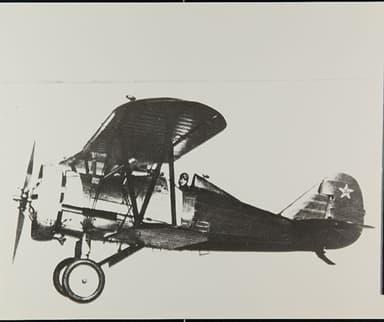 Polikarpov 1-5 VT-12 Second Prototype in Flight