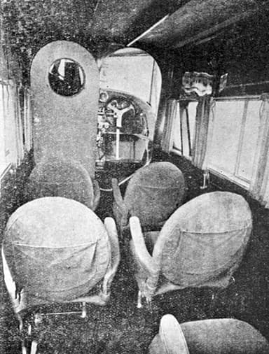 Potez 32 Cabin Looking Forward L'Air August 1, 1928