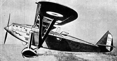 Potez 39 A2 Side Drawing L'Aerophile January 1931
