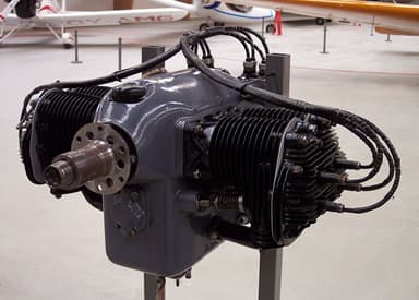Preserved Continental A40-5 (Dual Magneto, Two Spark Plugs per Cylinder)
