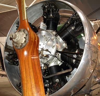 Restored Armstrong Siddeley Lynx Seven-cylinder Aero Engine