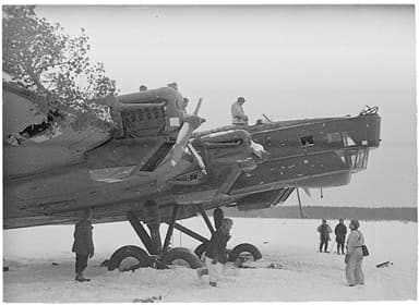 TB-3 Bomber Captured by Finnish Troops after Emergency Landing (1940)