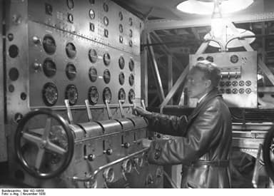The Engineer in the Machine Centre Operated the Throttles of the 12 Engines