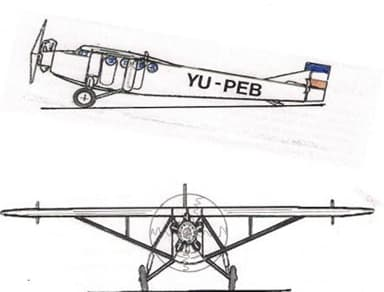 Two-View Drawing of Farman F.160