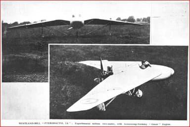 Westland Pterodactyl 2 Seater Flying Wing (1928 Flight Magazine)